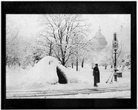 Christmas Snow Washington D.C. Library of Congress Prints and Photographs Division, REPRODUCTION NUMBER: LC-USZ62-109361