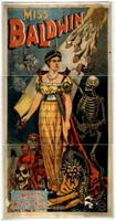 Halloween Witch, TITLE: Miss Baldwin, a modern witch of Endor, CALL NUMBER: POS - MAG - .B33, no. 1 (H size) [P&P], No known restrictions on publication., Magic Poster Collection (Library of Congress),