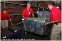 Members of a FEMA Disaster Medical Assistance Team (DMAT) (shown here preparing supplies) are being deployed to care for the sick and injured in stricken areas. Jocelyn Augustino/FEMA News Photo