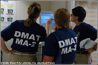 FEMA Disaster Medical Assistance Teams, like this one shown, will be assisting with treating patients coming to area hospitals following Hurricane Katrina. Jocelyn Augustino/FEMA News Photo