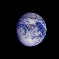 This color image of the Earth was obtained by the Galileo spacecraft on Dec. 11, 1990,