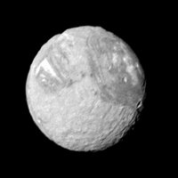 Target Name: Miranda, Is a satellite of: Uranus, Mission: Voyager, Spacecraft: Voyager 2, Product Size: 595 samples x 595 lines.