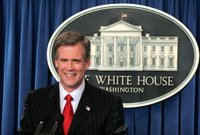 White House Press Secretary Tony Snow, Tuesday, May 16, 2006, fields questions during his first briefing after replacing Scott McClellan. White House photo by Paul Morse.