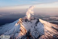 MSH05_aerial_mount_st_helens_from_north_04-26-05.jpg Sunset, Mount St. Helens from the north. USGS Photograph taken on April 26, 2005, by John Pallister.