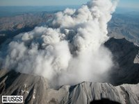 MSH04_crater_rim_plume_0929PDT_10-05-04.jpg Aerial view of Mount St. Helens' crater rim and recent plume, from the south. USGS Photograph taken on 5 October 2004 at 09:29:21 PDT, by Steve Schilling.
