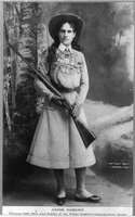 Annie Oakley, REPRODUCTION NUMBER:  LC-USZ62-7873, Library of Congress, Prints and Photo Divisuon