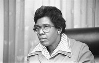 Congresswoman Barbara Jordan, head-and-shoulders portrait, possibly seated in a Congressional chamber] / [TOH]. CALL NUMBER: USN&WR COLL - Job no. 32512, frame 12 [P and P],  REPRODUCTION NUMBER: LC-U9-32512-12 (b and w film neg.), LC-DIG-ppmsc-01268 (digital file from original negative), No known restrictions on publication