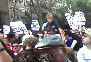 """Christians United for Israel"" signs"