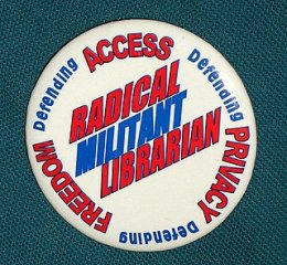 ALA Radical Militant Librarian button