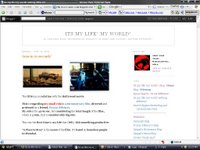 My orignal Blog Page