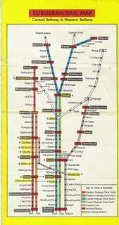 Mumbai Suburban Railway Map