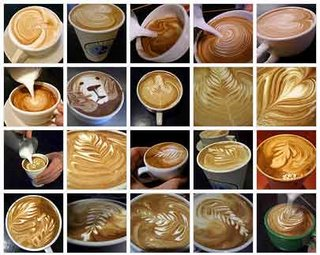 Latte Art - Artistic coffee.