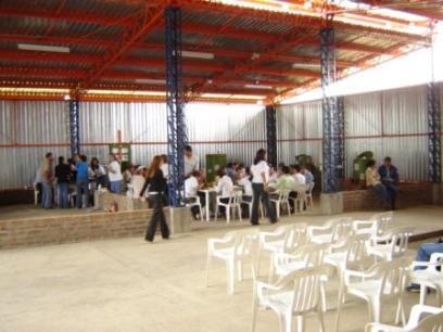 Vista interior de la planta de tratamiento de residuos sólidos