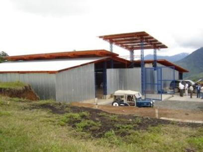 Vista exterior de la planta de tratamiento de residuos sólidos