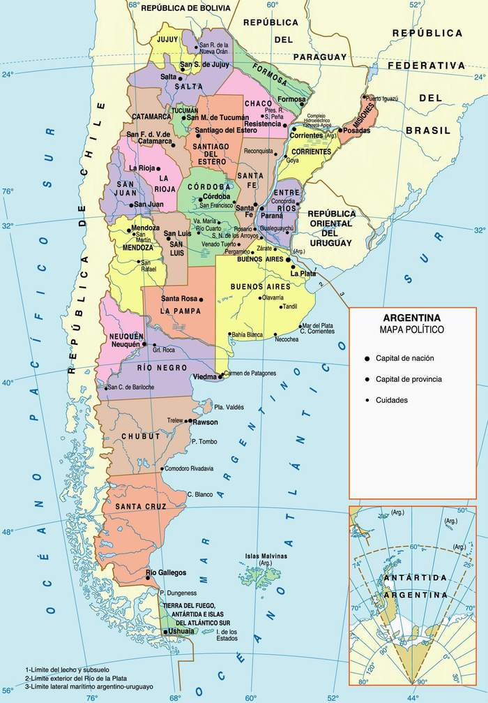 Argentina Dreams Stories The Dawn Of The City Of Ushuaia - Argentina landmarks map