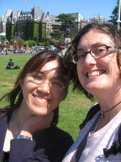 hiromi and shannon at the legislature