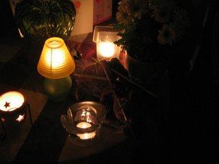 candlelit knitting