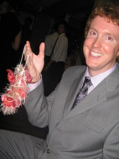 alex caught the garter