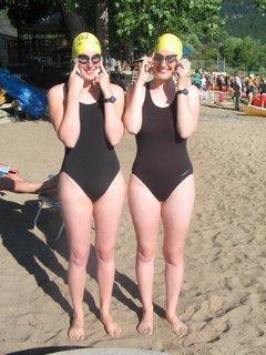 pre race swimmers