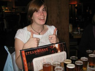 rebecca and her baby beers