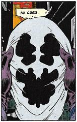La cara/máscara de Rorschach