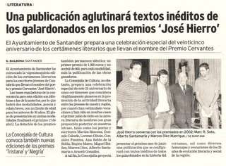 De izquierda a derecha, Marc R. Soto, Alberto Santamaría, José Hierro y Marcos Díez Manrique