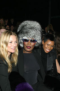 Grace Jones and model Kate Moss, who recently made headline news for cocaine