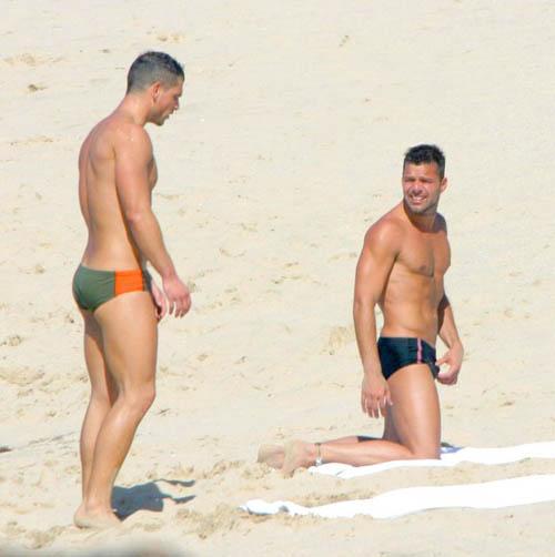 Ricky martin naked at beach