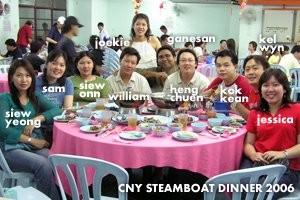 Apache's CNY Steamboat Dinner 2006