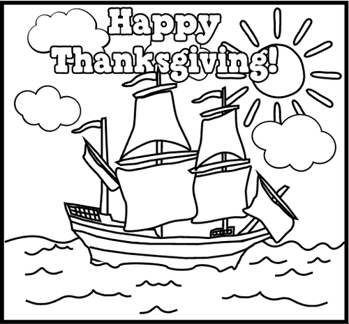 Lalc Teacher Resources Thanksgiving Coloring Pages Mayflower Coloring Page