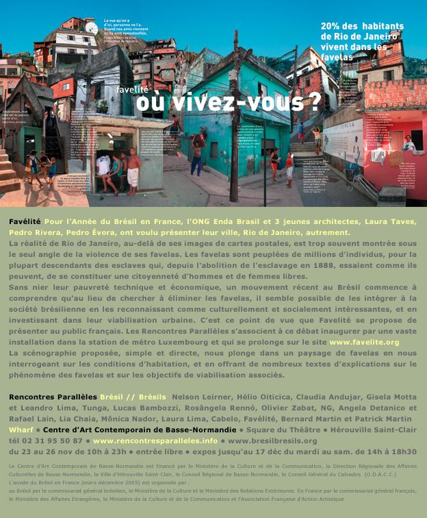 Favelite, station rer luxembourg, paris, Laura Taves, Pedro Rivera, Pedro Evora