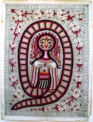 baccahdai devi mithila madhubani painting india