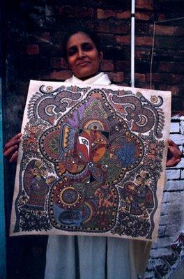pushpa kumari mithila madhubani painting