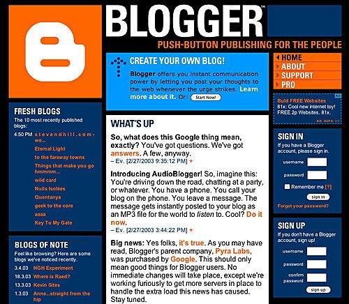 Cumpleaños de Blogger