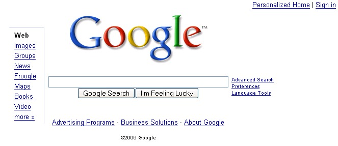Google Homepage Designs