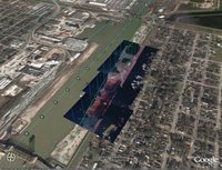 Hurricane Katrina in Google Earth