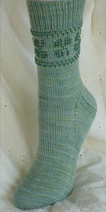 Frolicking Shamrock Beaded Socks