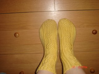 twisted stitches socks