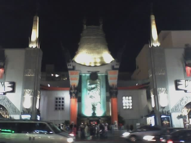 Grauman's Chinese Theatre in Hollywood at night.