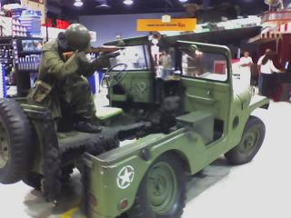 Blasted jeep in Fry's Electronics
