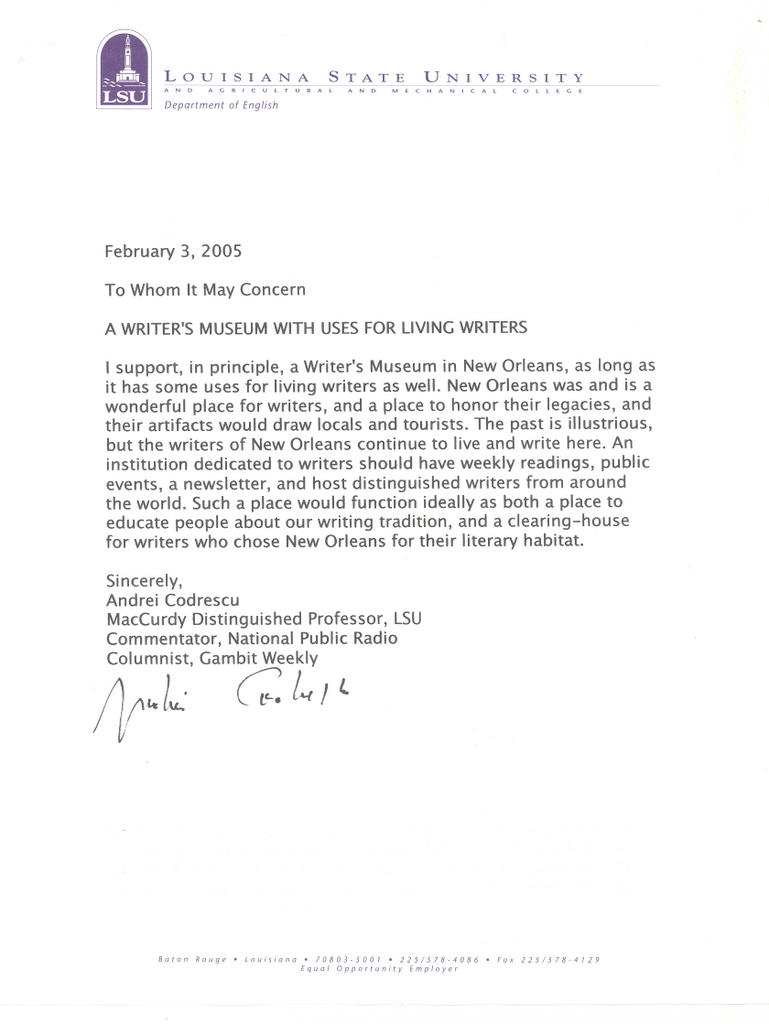 example of appreciation letter