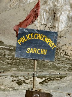 Police Checkpost at Sarchu