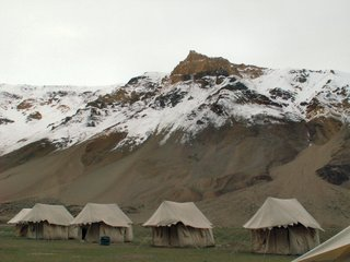 Tents at Sarchu, the luxury ones
