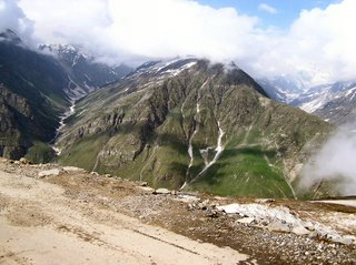 The first view of the mountains after you get through Rohtang