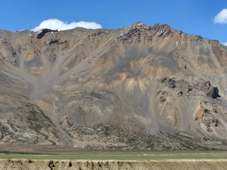 Colourful mountains at Sarchu