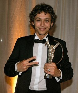 Rossi erm happy with the Laureus Award
