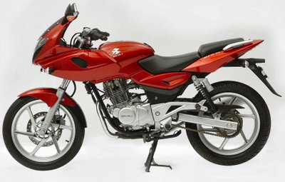 Offical image of the launch spec Bajaj Pulsar DTS-Fi