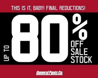 General Pants Stocktake Sale