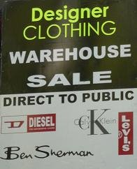 Designer Clothing, Denim & Fashion Warehouse Sale