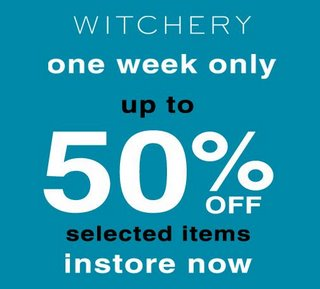 Witchery scoop on Shopping for Women, Teen, Girls, Fashion, Clothing, Shoes, specials, reductions, Bargains Sales